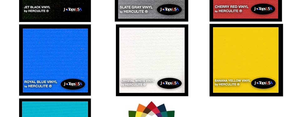 Boot and Tonneau Vinyl Color Samples