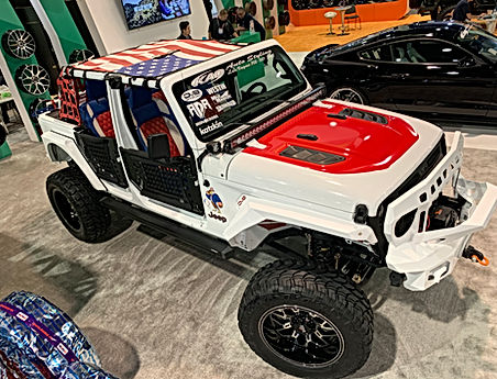 Wrangler US flag sun shade at SEMA