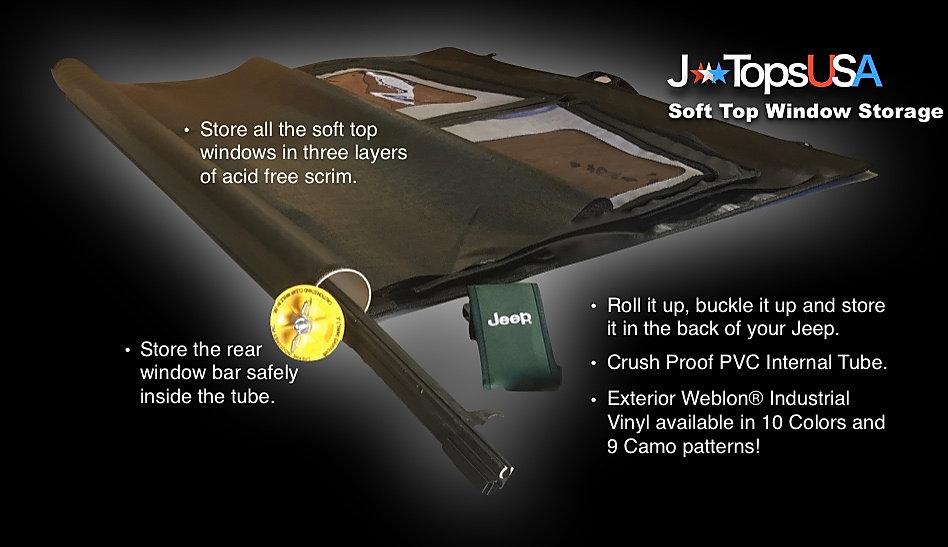 jtopsusa - jeep soft top window storage