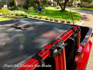 Jeep Gladiator Mesh Sun Shade Top, Back