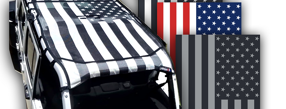 Jeep wrangler JL  tactical US Flag sun shade top