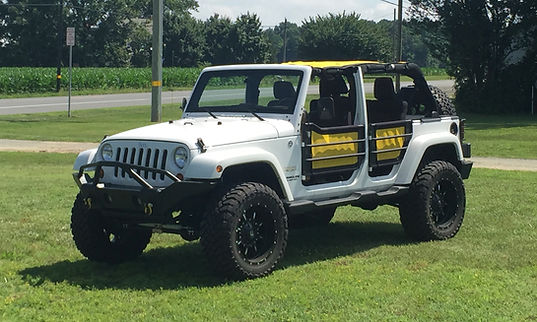 jeep wrangler mesh sun shade top with door skins