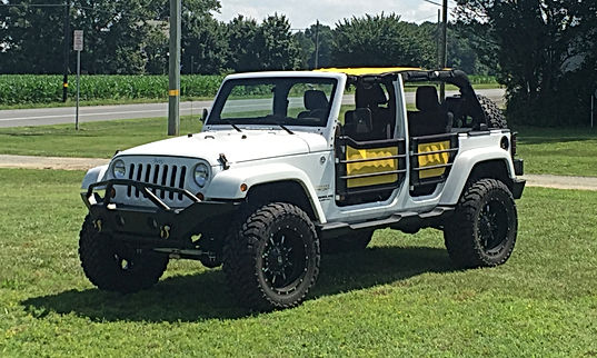 jeep wrangler mesh sun shade top with door skins