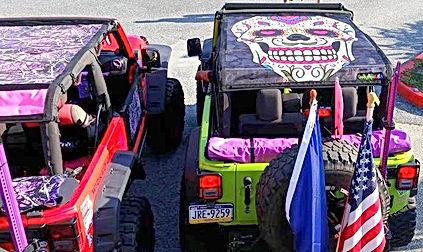 Summer mesh Jeep Wrangler sun shade sugar skull