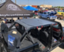 2018 Wrangler JL titanium mesh sun shade