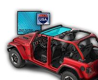 Jeep Wrangler Bikin Sun Shade JTopsUSA t