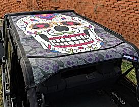 Wrangler Custom Sugar Skull Sun Shade