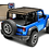 Jtopsusa mesh shade top for the jeep gladiator