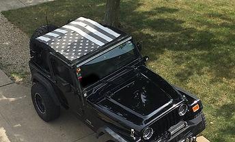 Jeep Wrangler flag sun shade