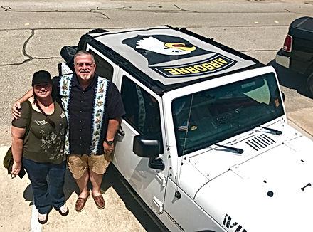 JTopsUSA customers custom Wrangler sun shade