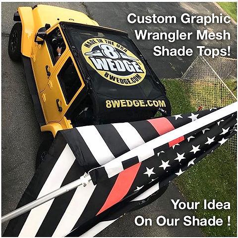 Jtopsusa Custom Printed Jeep Sun Shade Top