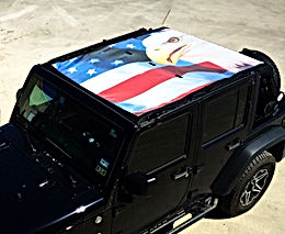 Jeep wrangler custom sunshade