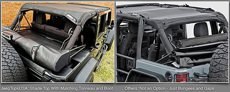 JTopsUSA vs Spiderwebshade Jeep sun shade and Soft top boot