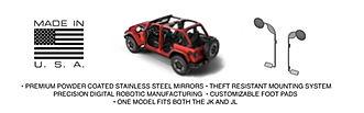 Jeep wrangler foot pegs with mirrors, doors off, kikbax