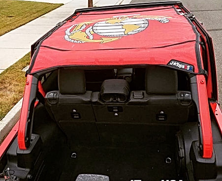 2018 Jeep Wrangler custom US Marines Sun Shade Top