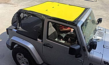 Jeep JL Wrangler mesh shade top