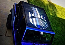 Jeep punisher wrangler mesh sun shade