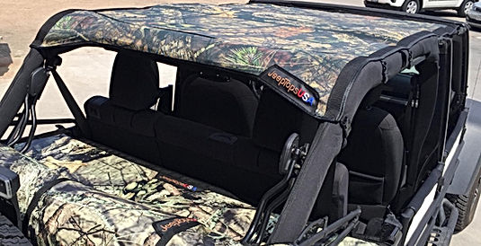 Mossy Oak Jeep Wrangler Sun Shade