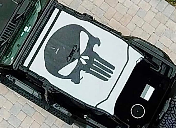 Jeep Wrangler JL Sun Shade Punisher image