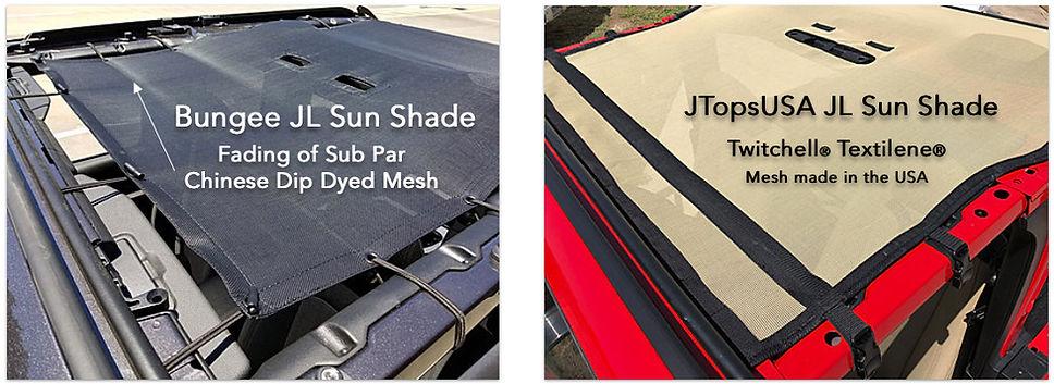 Alienshade vs JTopsusa wrangler mesh sun shade top