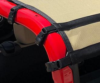 JTops Wrangler sun shade buckles