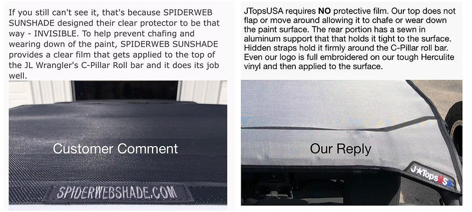 JTops vs Spiderwebshade