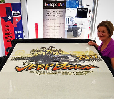 Custom printed jeep sun shade by JTopsUSA