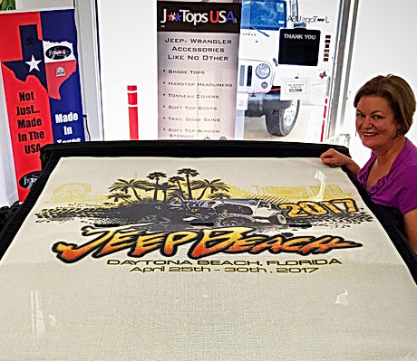 Custom printed jeep sun shade by JTopsUSA