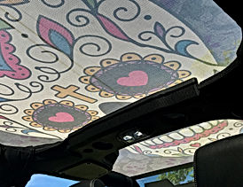 Jeep Wrangle Sugar Skull Sun Shade Top