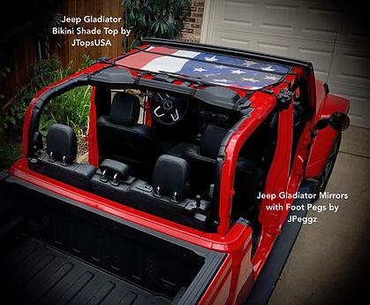 Jeep Gladiator Bikini Sun Shade