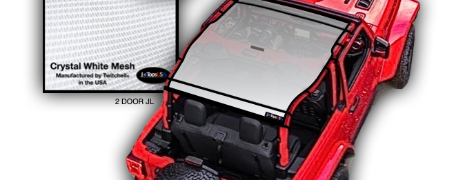 Jeep wrangler JL (2018-2019) 2 door sun shade top
