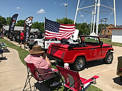 JTopsUSA Summer Jeep show in Frisco Texas