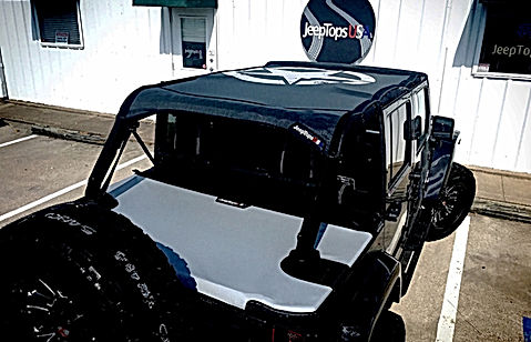 Jeep wrangler sun shade and tonneau cover