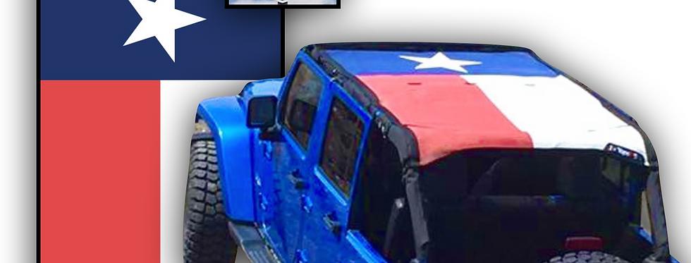 Texas flag top for the jeep wrangler