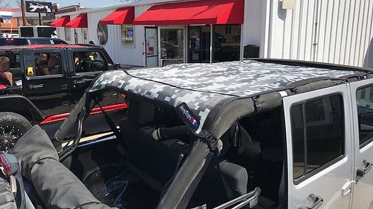 Jeep Wrangler digital camo summer mesh sun shade top