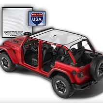 JTopsUSA Jeep Wrangler Sun shade top whi