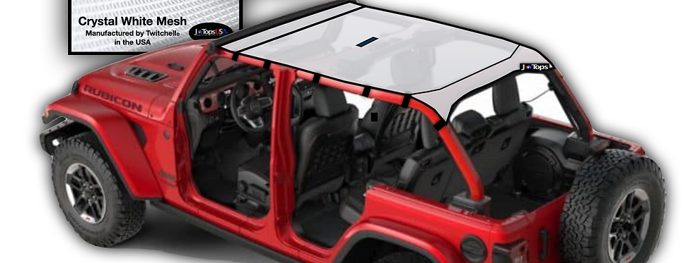 sun shade top for jeep wrangler JL