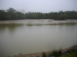 View of lake (drained)