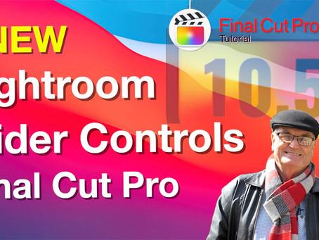NEW Lightroom-style slider color grading plug-ins for Final Cut Pro