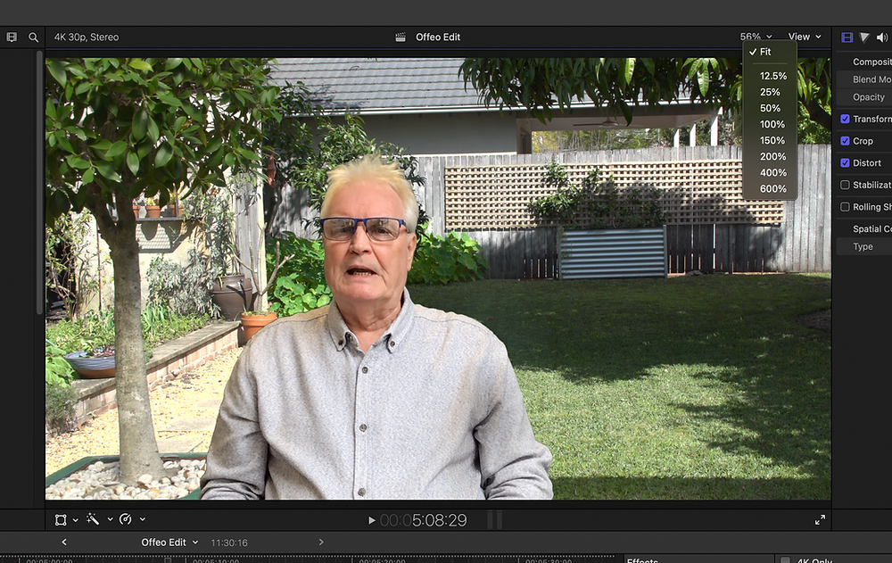 The Fit view in Final Cut Pro
