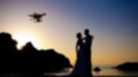 Drone with Bridal & Groom