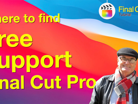 Where to find Free Support for Final Cut Pro