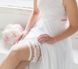 The garter toss is one of the oldest customs surviving wedding rituals
