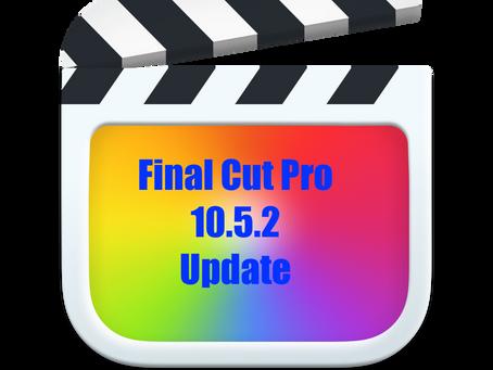 Final Cut Pro update 10.5.2