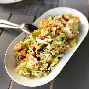 Salade orientale à l'orange et noix du Brésil