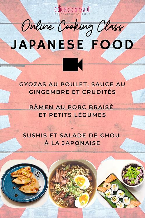 ONLINE COOKING CLASS  - Japanese food (3 recettes et 3 vidéos pas à