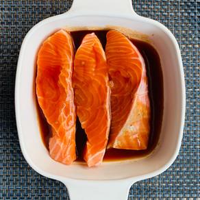 Saumon mariné à la japonaise