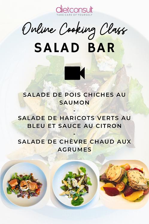 ONLINE COOKING CLASS  - Salad Bar (3 recettes et 3 vidéos pas à pas)