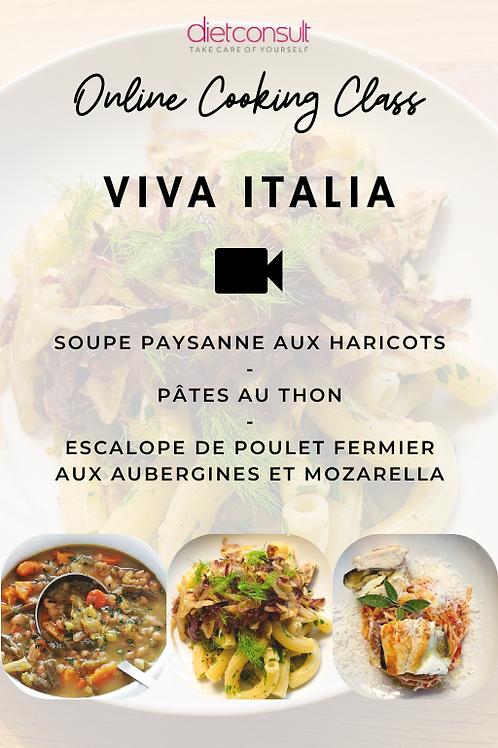 ONLINE COOKING CLASS  - Viva Italia (3 recettes et 3 vidéos pas à pas)