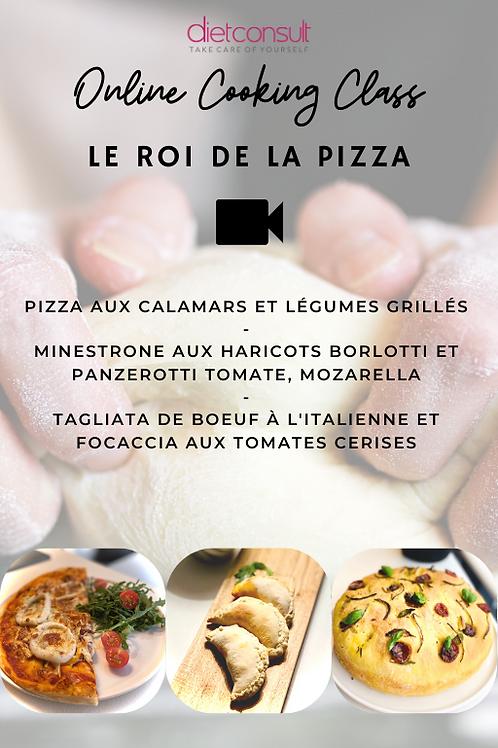 ONLINE COOKING CLASS  - Le Roi de la pizza (3 recettes et 3 vidéos pa